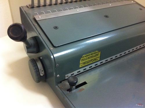 encadernadora perfuradora para garra plástica