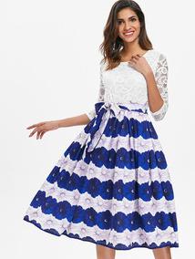 12b5437c0 Vestido Blanco Encaje - Vestidos Casuales para Mujer en Mercado ...
