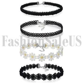 9347a9086901 Encaje Negro Flor Gargantilla Vintage Womens Gótico Collar C