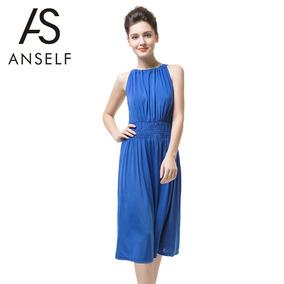 68edb6a946f3 Vestido Sexy Con Encaje Cuello V Color Azul Rey - Ropa, Bolsas y ...