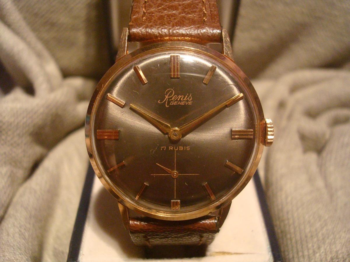 df34d979f75c Encantador Reloj Renis Antiguo Oro Plaque18k Impecable Unico ...