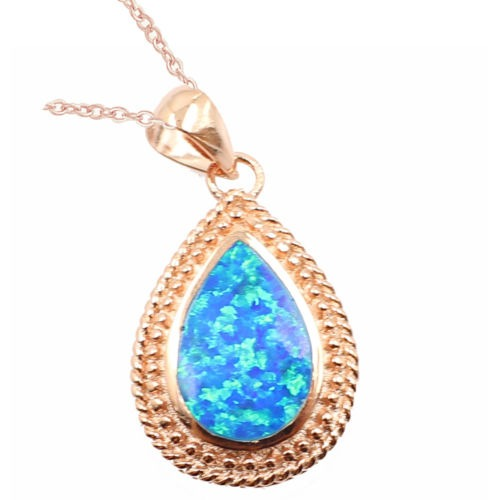 dd949a674ac4 Encanto Mujeres Joyas De Oro Blanco Collar... (blue+plat ...