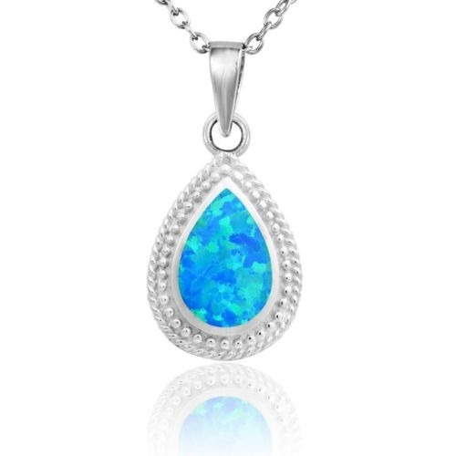 90697c4ee55a Encanto Mujeres Joyas De Oro Blanco Collar De... (blue) -   29.990 ...