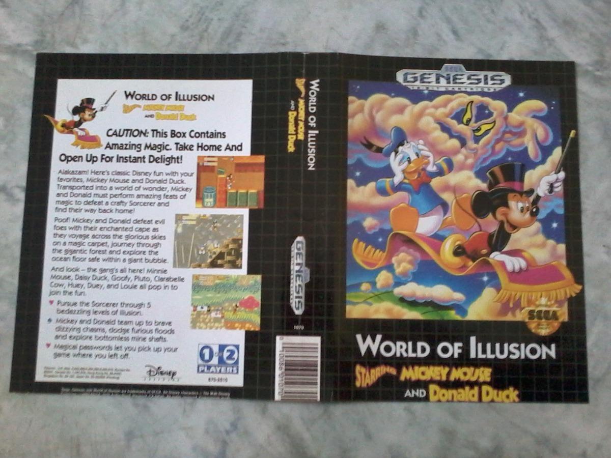 5851279ac1 encarte original do jogo world of illusion americano. Carregando zoom.
