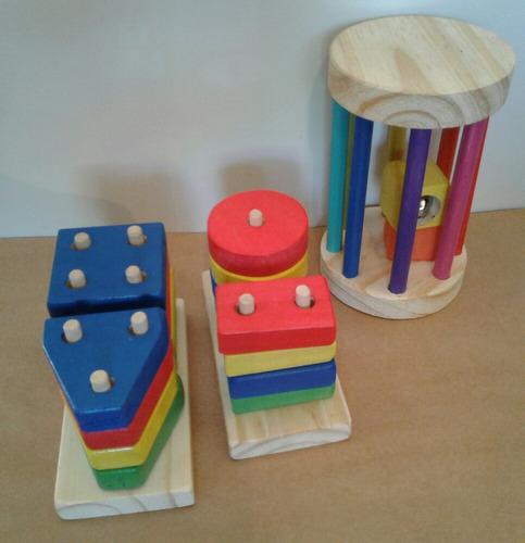 encastre figuras; producto montessori