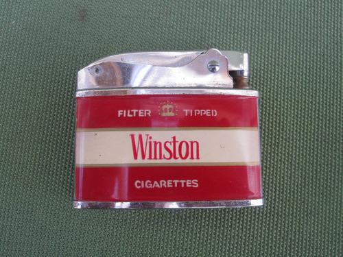 encendedor antiguo cigarrillos winston año 1956