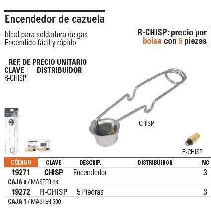 encendedor cazuela truper 19271
