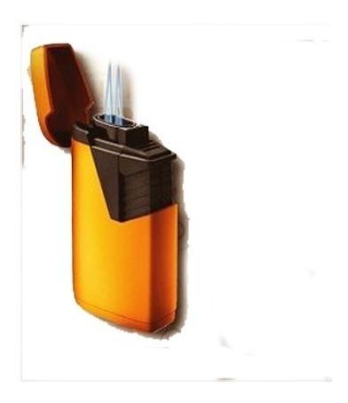 encendedor doble llama jet dorado puros habano fumar cigarro