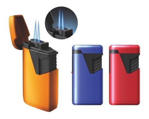 encendedor doble llama jet rojo puros habano fumar cigarro