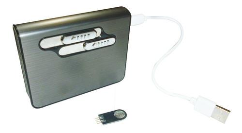encendedor electrónico con cigarrera recargable elegante