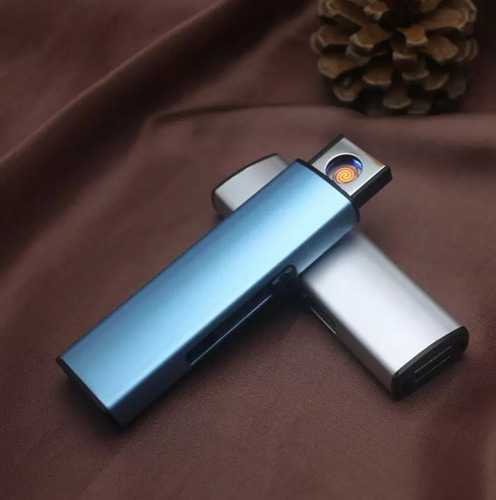 encendedor electronico de bolsillo usb sport metalico