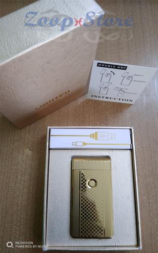 encendedor electronico usb doble arco (dual arc lighter usb)