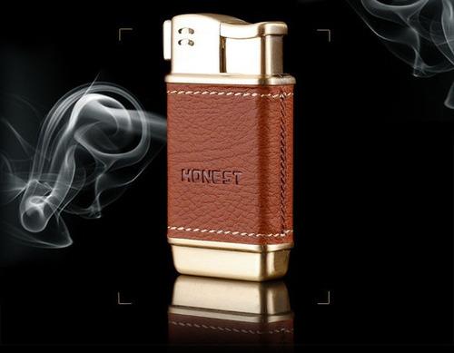 encendedor honest pipa cuero para fumar pipa tabaco lateral