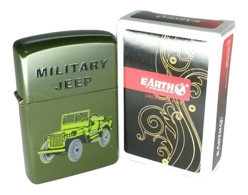 encendedor mechero marca earth 127 estampado militar