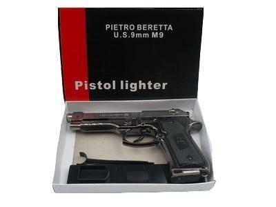 encendedor pistola beretta recargable
