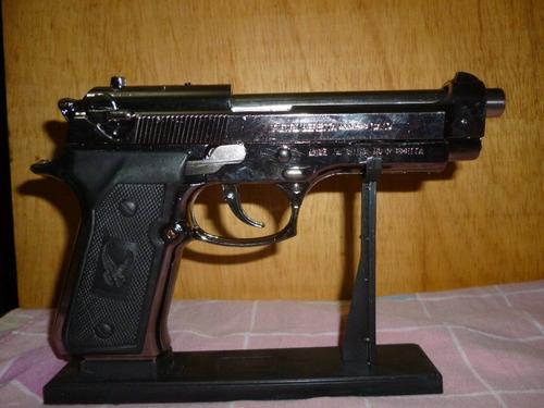 encendedor pistola beretta recargable ideal recreaciones