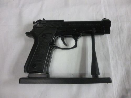 encendedor pistola pequeña beretta color negra recargable