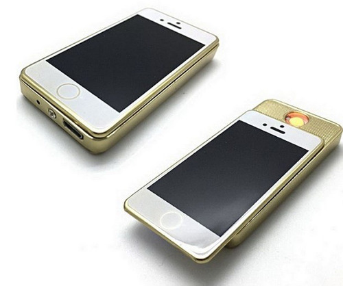 encendedor recargable usb en forma de mini iphone elegante