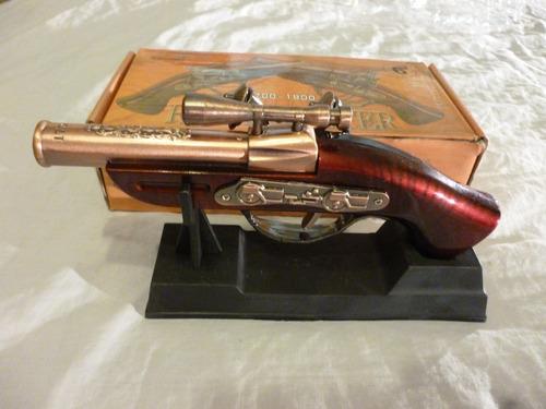 encendedor revolver antiguo de coleccion  recargable