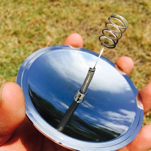 encendedor solar de emergencia camping outdoor fuego espejo