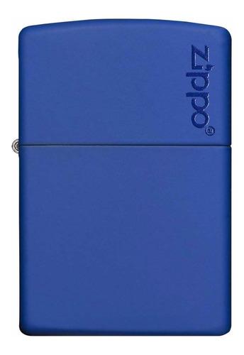 encendedor zippo azul mate con logo  -  cod 229zl