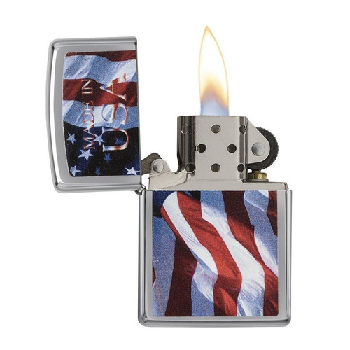 encendedor zippo bandera made in usa ref. 24797
