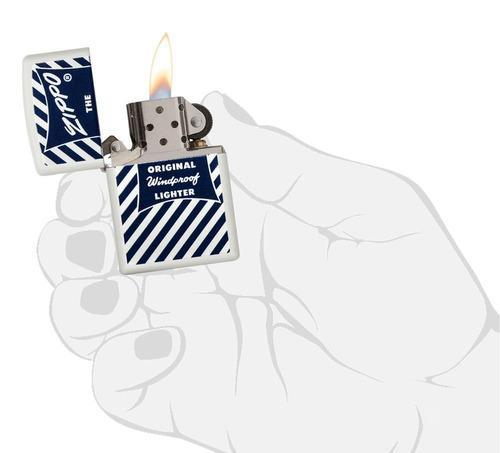 encendedor zippo blue & white ref. 29413