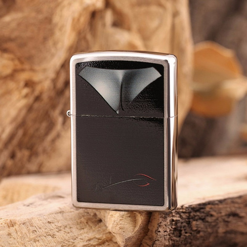 encendedor zippo bust decollage chrome 28273 busto mujer