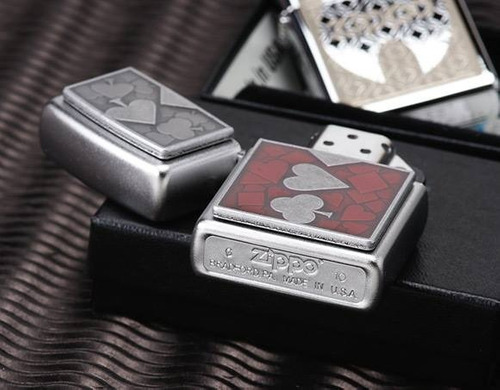 encendedor zippo card suits poker - 24850