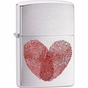 encendedor zippo corazon con huellas dactilares