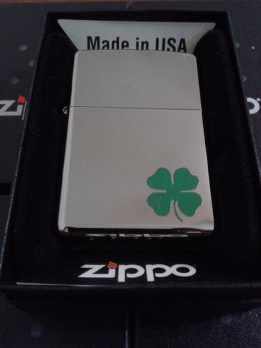 encendedor zippo logo trebol 100% original importado + combo