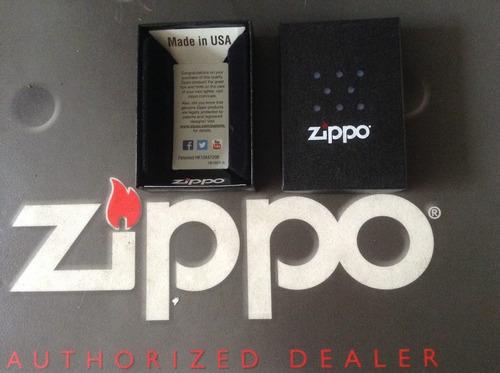 encendedor zippo mate  rayado normal y delgado