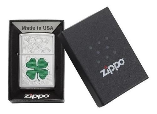 encendedor zippo original usa trebol clvr 24699