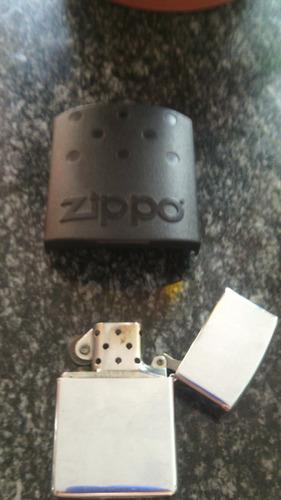 encendedor zippo plateado usado