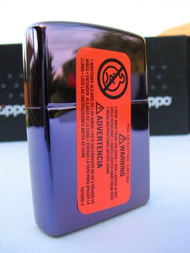 encendedor zippo - purple abyss + regalo