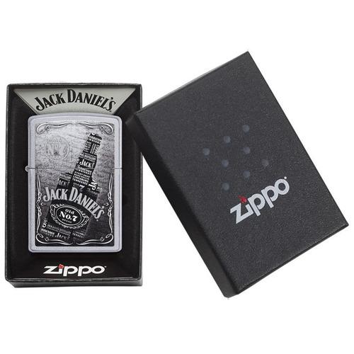 encendedor zippo satin chrome jack daniel's ref. 29285
