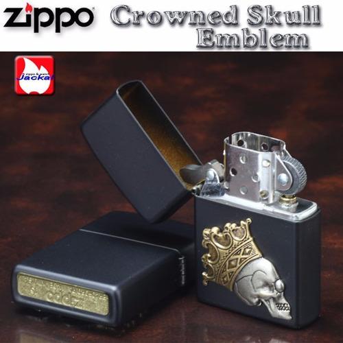 encendedor zippo skull crown calaca craneo con corona muerte