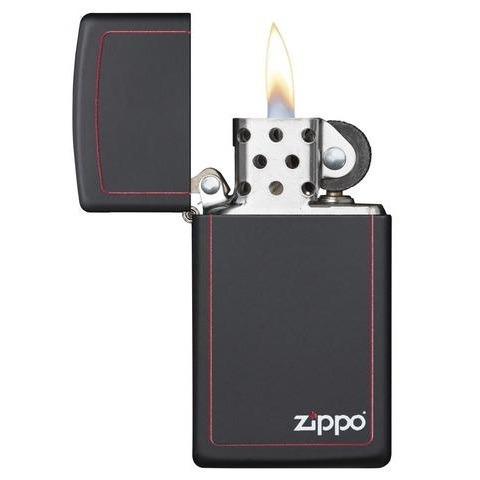 encendedor zippo slim black matte ref. 1618zb