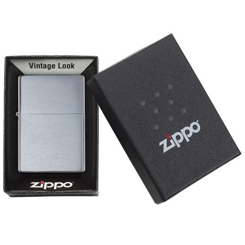 encendedor zippo vintage brushed chrome ref. 230.25