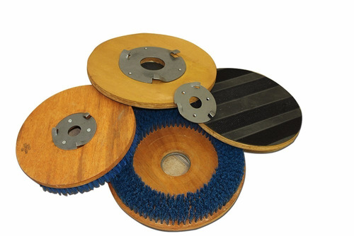 enceradeira industrial dc 350 + discos 350mm - deep clean