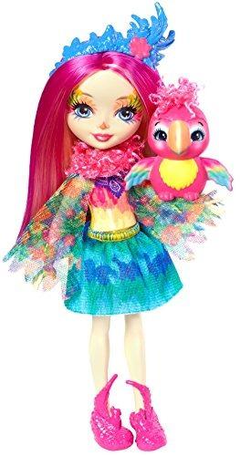 enchantimals peeki parrot doll & sheeny