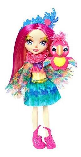 enchantimals peeki parrot doll y sheeny