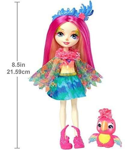 enchantimals peeki parrot doll y sheeny