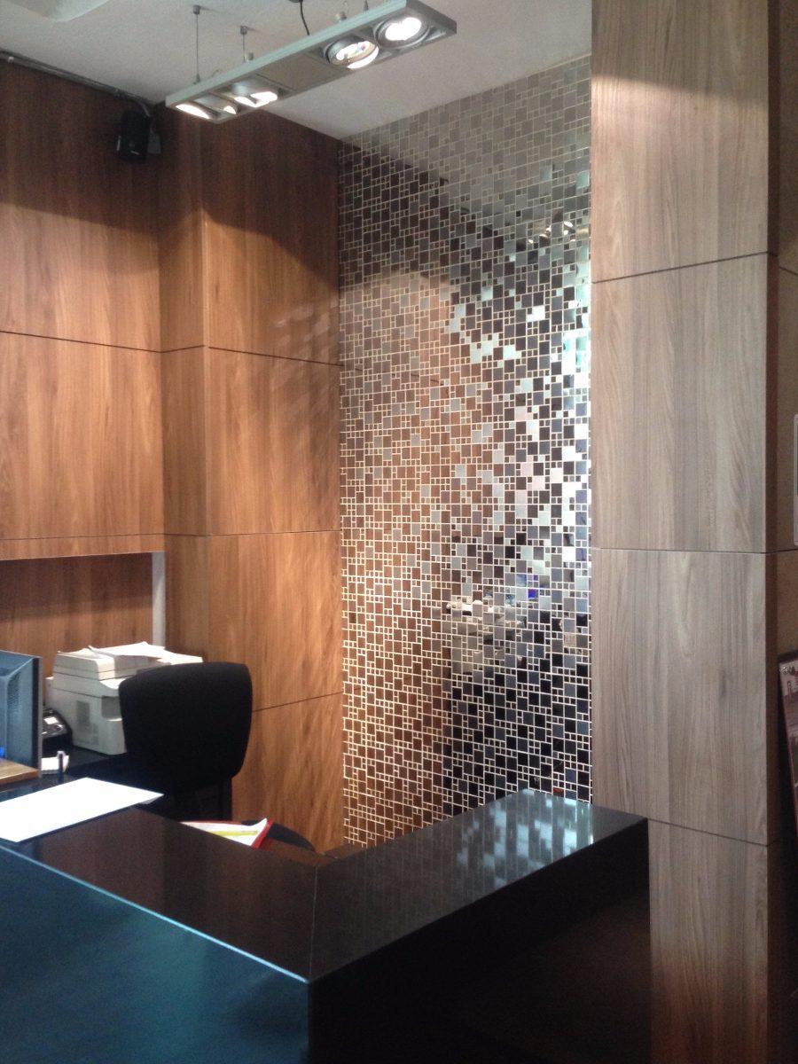 Enchapes met licos tipo mosaico en acero inoxidable en mercado libre - Placas decorativas para pared interior ...
