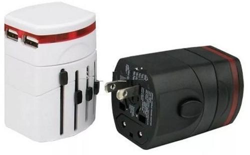enchufe adaptador universal 2 usb viajes 110/220 city-ventas