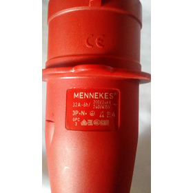 Enchufe Industrial Mennekes 32a-6h/3p+n+