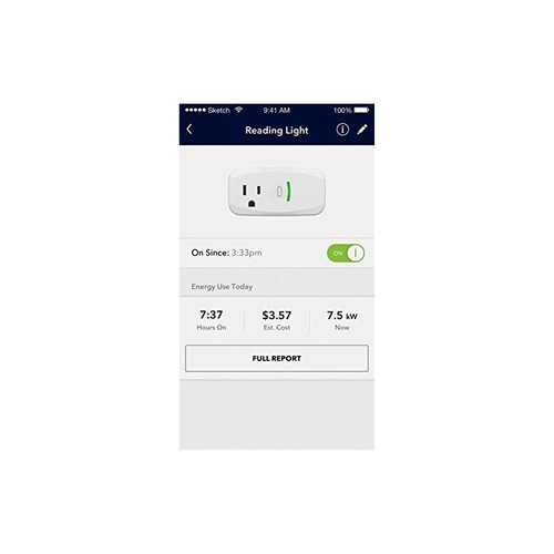 enchufe inteligente insignia wi-fi con medidor de potencia -