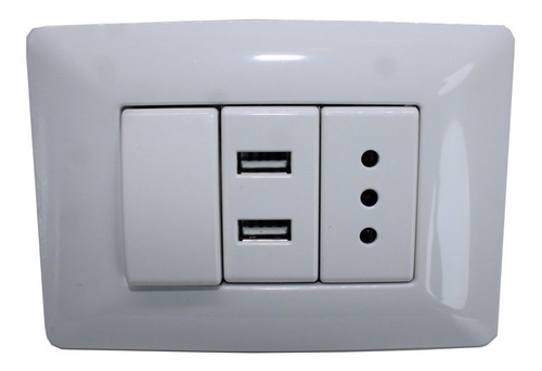 enchufe pared 220v. usb doble , interruptor / mitiendacl