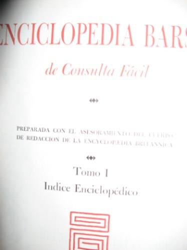 enciclopedia barsa diferentes tomos