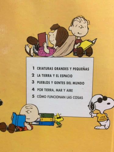 enciclopedia de carlitos - 5 tomos - charlie brown - snoopy
